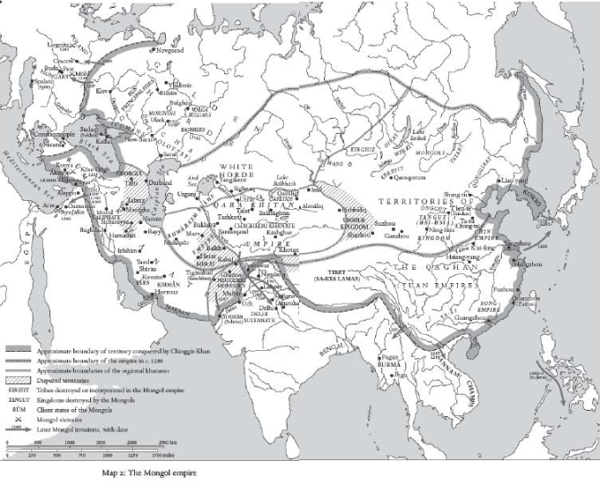 Map of Mongol Empire