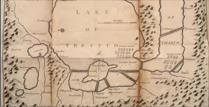 Map of Tenochtilan 1789